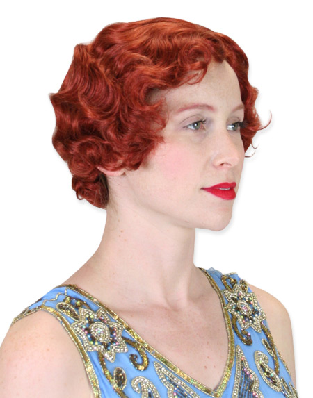Vintage Ladies Red Wig | Romantic | Old Fashioned | Traditional | Classic || Flapper Wig - Auburn