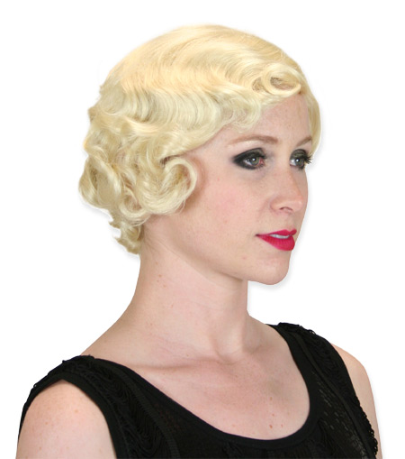 Vintage Ladies Blonde Wig | Romantic | Old Fashioned | Traditional | Classic || Flapper Wig - Blonde
