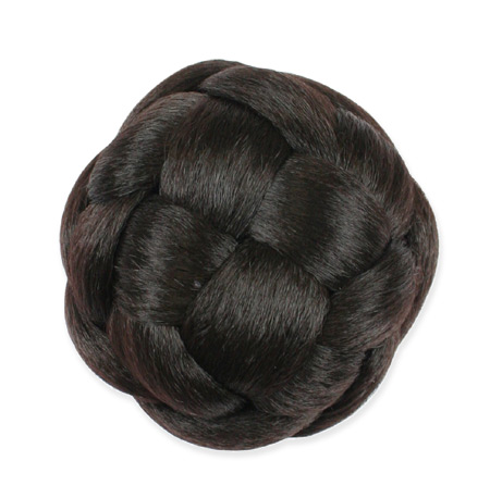 1800s Ladies Brown Wig | 19th Century | Historical | Period Clothing | Theatrical || Braided Bun, 4.5 in. - Dark Brown
