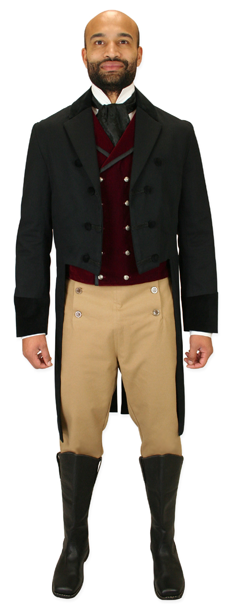 Steampunk Mens Brown,Tan Cotton Blend Solid Fall Front Trousers,Dress Pants | Gothic | Pirate | LARP | Cosplay | Retro | Vampire || Regency Fall Front Trousers - Tan