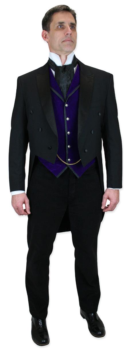 Vintage Mens Purple Velvet Solid Notch Collar Dress Vest | Romantic | Old Fashioned | Traditional | Classic || Bonaventure Vest - Purple Velvet