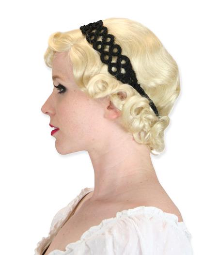 Victorian Ladies Black Headband | Dickens | Downton Abbey | Edwardian || Headband - Black