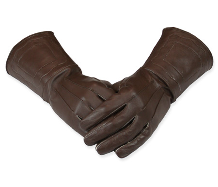 Victorian Mens Brown Leather Gloves | Dickens | Downton Abbey | Edwardian || Gauntlets - Brown Leather