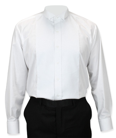 Vintage Mens White Solid Wing Tip Collar Dress Shirt | Romantic | Old Fashioned | Traditional | Classic || Pique Tuxedo Shirt