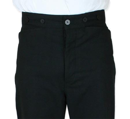 Wedding Mens Black Cotton Blend Solid Dress Pants | Formal | Bridal | Prom | Tuxedo || Baxter Dress Trousers - Black