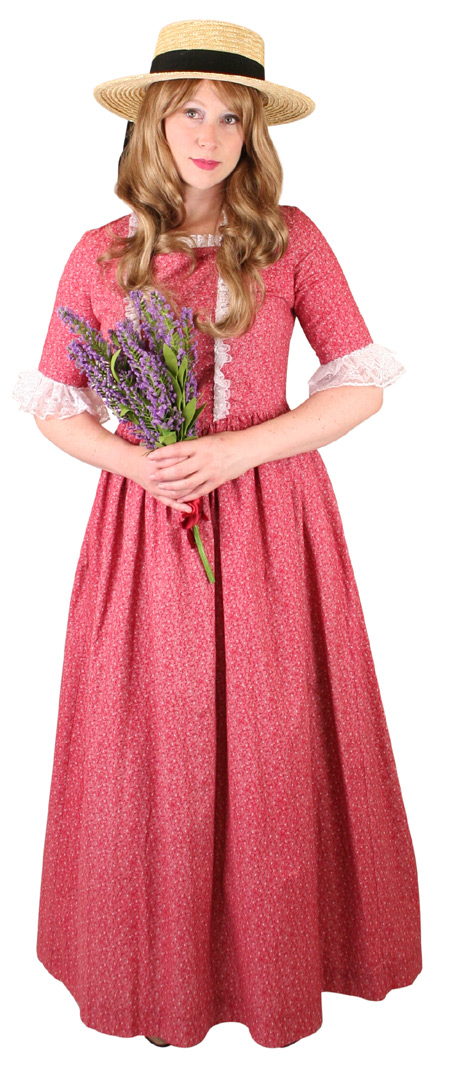 Wedding Ladies Red Cotton Print Dress | Formal | Bridal | Prom | Tuxedo || Amelia Dress - Red Print