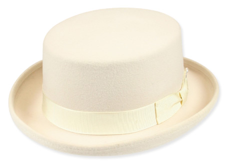 1800s Mens Ivory Wool Felt Top Hat | 19th Century | Historical | Period Clothing | Theatrical || Squire Top Hat - Creme