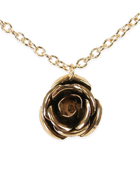 1800s Ladies Gold,Brass Necklace | 19th Century | Historical | Period Clothing | Theatrical || Pendant Necklace - Antique Gold Rose