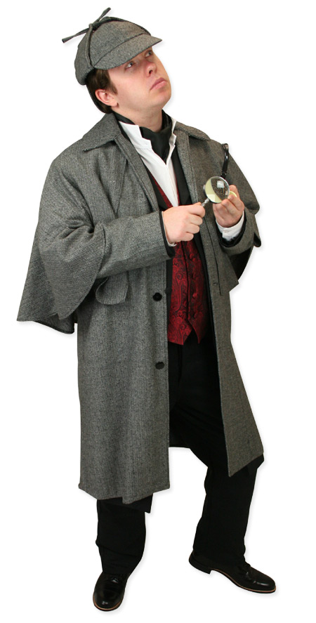 Steampunk Mens Gray Cap   Gothic   Pirate   LARP   Cosplay   Retro   Vampire    Baskerville Deerstalker Hat - Gray