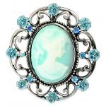Cameo Brooch - Turquoise
