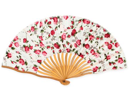 Victorian Ladies Red Wood,Satin Fan | Dickens | Downton Abbey | Edwardian || Garnet Rose Satin Fan