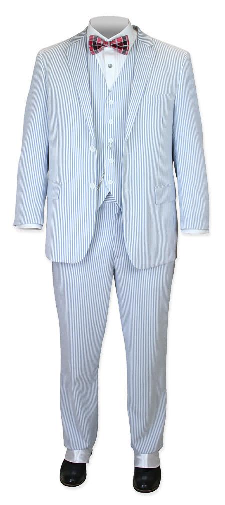 Ashland Seersucker Suit Blue
