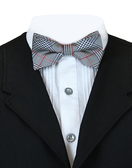 Victorian Mens Gray Check Bow Tie | Dickens | Downton Abbey | Edwardian || Julian Bowtie - Gray
