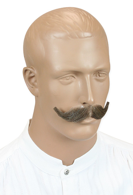 Steampunk Mens Brown Natural Mustache | Gothic | Pirate | LARP | Cosplay | Retro | Vampire || Dauntless Mustache - Brown