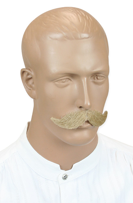 1800s Mens Blonde Natural Mustache | 19th Century | Historical | Period Clothing | Theatrical || Dauntless Mustache - Blonde