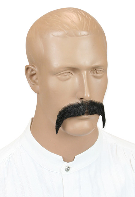 Vintage Mens Black Natural Mustache   Romantic   Old Fashioned   Traditional   Classic    Rowdy Mustache - Black