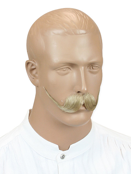 Victorian Mens Blonde Natural Mustache | Dickens | Downton Abbey | Edwardian || Oil Can Harry Mustache - Blonde