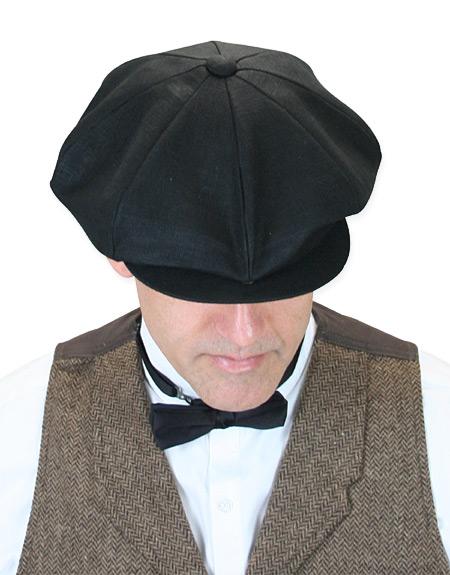 deb7638f3 Linen Applejack Cap - Black