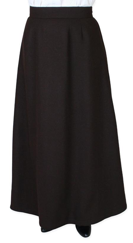 Constance Reversible Wool Skirt - Dark Brown