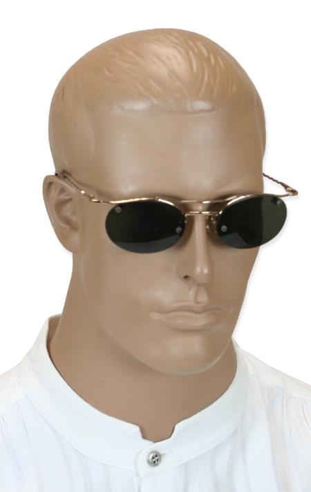 Steampunk Mens Gold Alloy Sunglas   Gothic   Pirate   LARP   Cosplay   Retro   Vampire    Strut Sunglasses - Gold