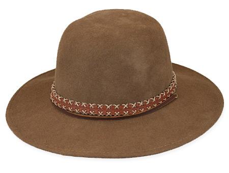 Victorian Mens Brown Wool Felt Wide Brim Hat | Dickens | Downton Abbey | Edwardian || Laredo Hat - Camel