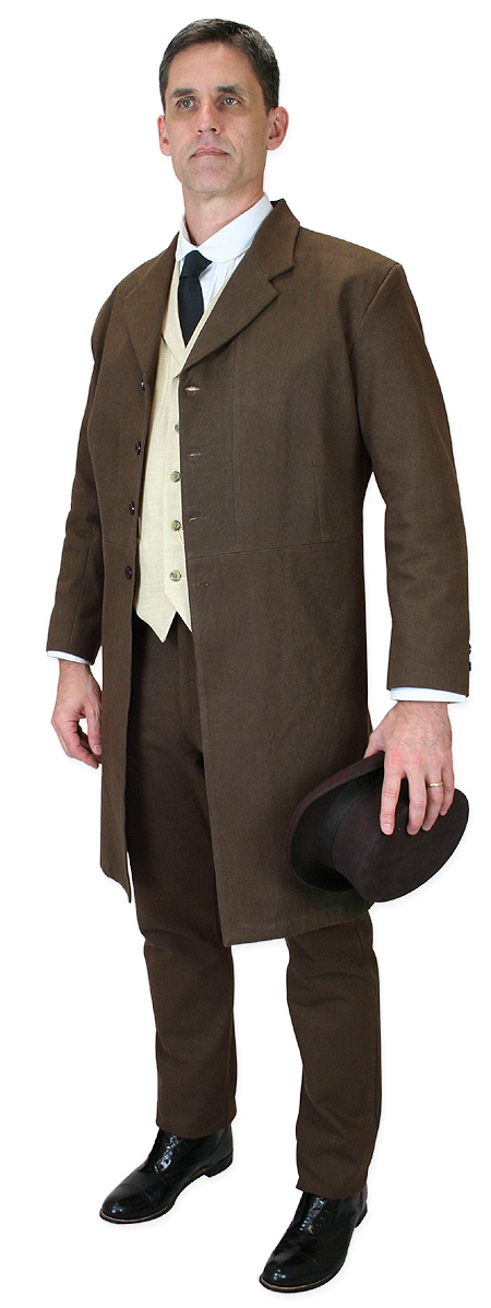 1800s Mens Brown Wool Felt Top Hat   19th Century   Historical   Period Clothing   Theatrical    Cahill Hat - Chocolate