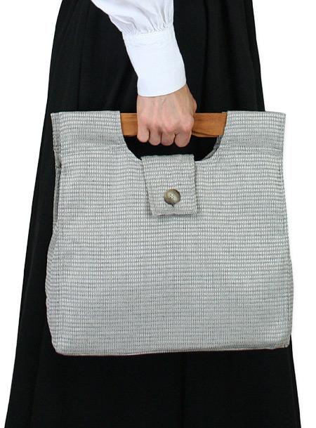 Victorian Ladies Gray Tweed Carpetbag | Dickens | Downton Abbey | Edwardian || Small Carpetbag - Gray Tweed