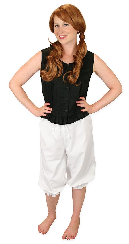 Steampunk Ladies White Cotton Solid Pantaloon | Gothic | Pirate | LARP | Cosplay | Retro | Vampire || Perfect Pantaloons - White
