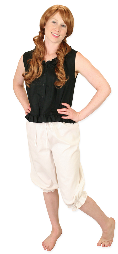 Vintage Ladies Ivory Cotton Solid Pantaloon   Romantic   Old Fashioned   Traditional   Classic    Perfect Pantaloons - Natural