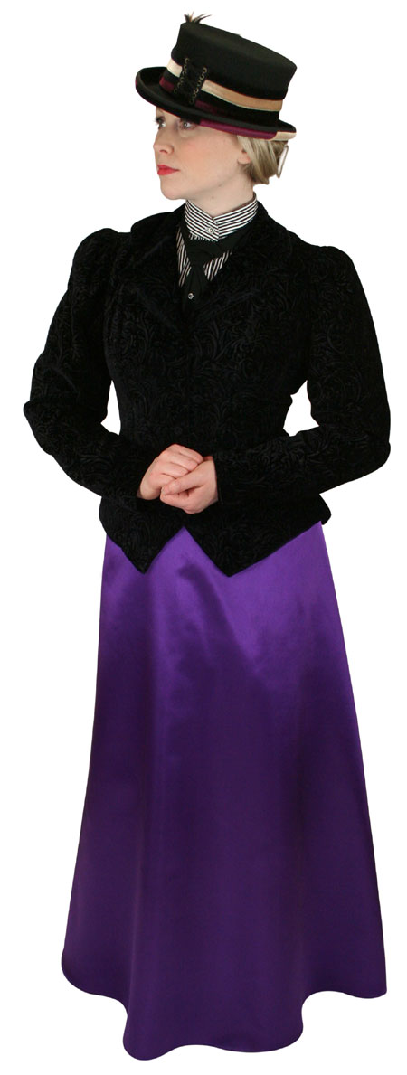 Wedding Ladies Purple Solid Dress Skirt | Formal | Bridal | Prom | Tuxedo || Evelyn Skirt - Amethyst