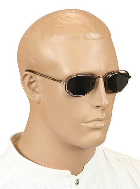 Vintage Mens Brown Alloy Sunglas | Romantic | Old Fashioned | Traditional | Classic || Stratum Sunglasses - Bronze