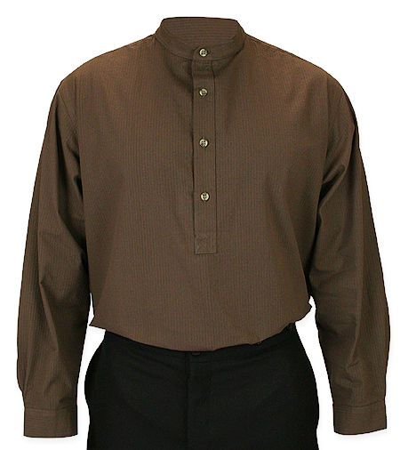 Beaumont Shirt - Brown Seersucker