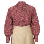Katie Calico Blouse - Burgundy