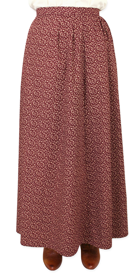 Katie Calico Skirt - Burgundy