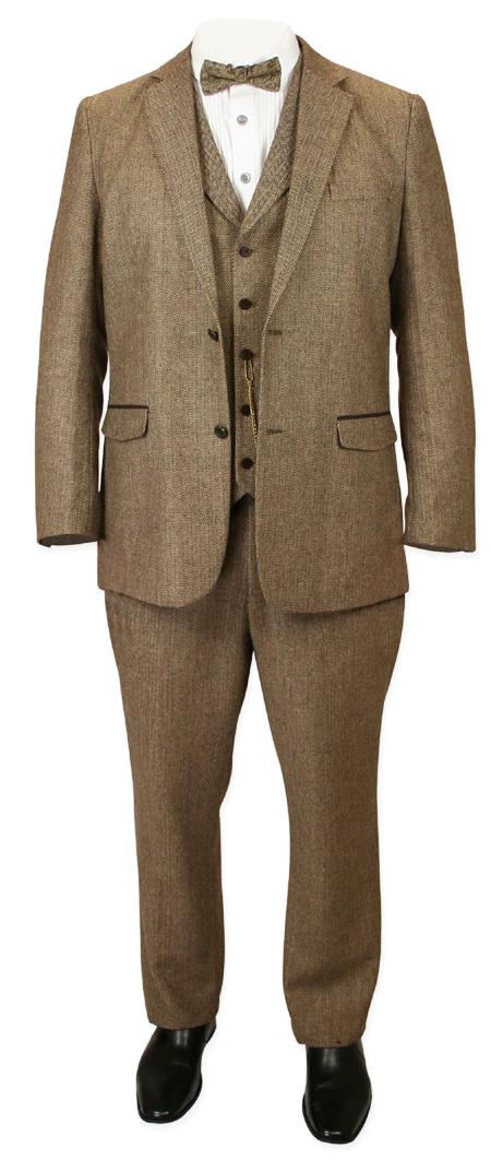 f94d1242 Newbury Suit - Brown Herringbone Tweed