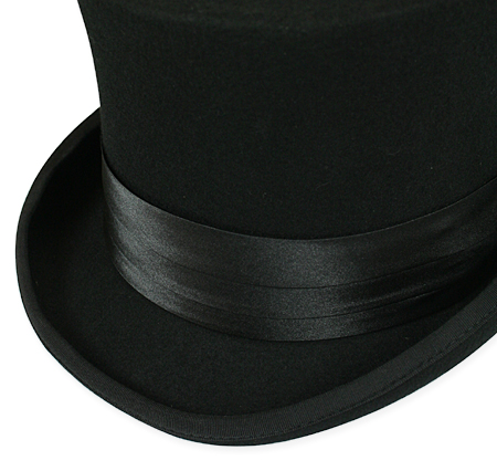 1800s Mens Black Satin Hat Band | 19th Century | Historical | Period Clothing | Theatrical || Hat Band - Black Satin