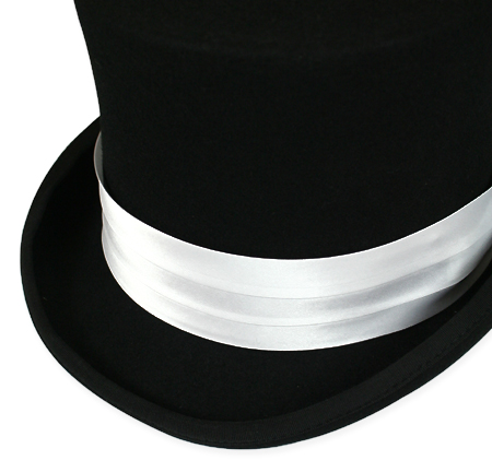 Vintage Mens White Satin Hat Band | Romantic | Old Fashioned | Traditional | Classic || Hat Band - White Satin