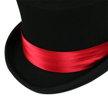 Vintage Mens Red Satin Hat Band | Romantic | Old Fashioned | Traditional | Classic || Hat Band - Red Satin