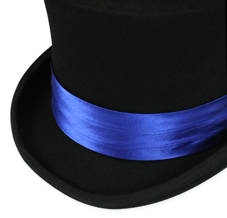 Wedding Mens Blue Satin Hat Band | Formal | Bridal | Prom | Tuxedo || Hat Band - Royal Blue Satin