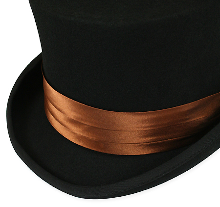Victorian Mens Brown,Tan Satin Hat Band | Dickens | Downton Abbey | Edwardian || Hat Band - Light Brown Satin
