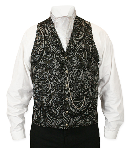 Delacourt Tapestry Vest - Black