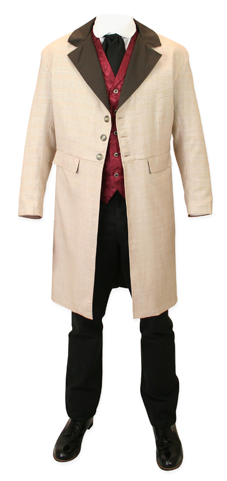 Wooster Frock Coat - Tan Plaid