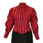 Bella Blouse - Red Antique Keys