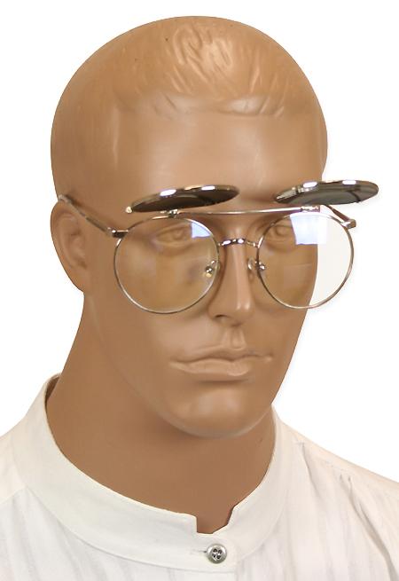 Steam Punk Vintage Wild West Flip Up Glasses