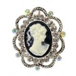 Victorian,Old West, Ladies Jewelry Silver Pins,Cameos |Antique, Vintage, Old Fashioned, Wedding, Theatrical, Reenacting Costume |