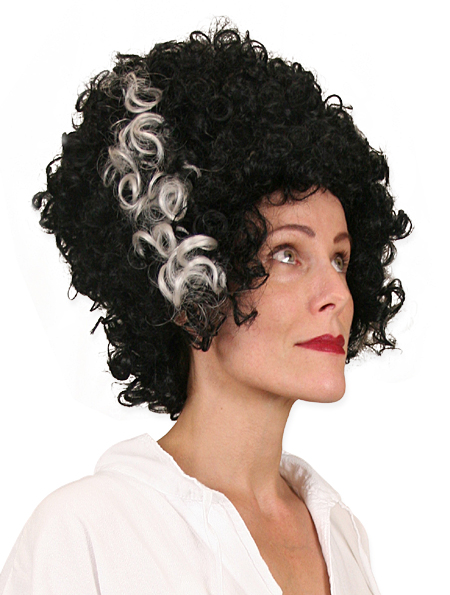 1800s Ladies Black Wig | 19th Century | Historical | Period Clothing | Theatrical || Bride of Frankenstein Wig