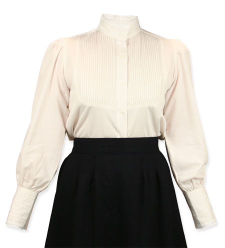 Muriel Pleated Blouse - Natural