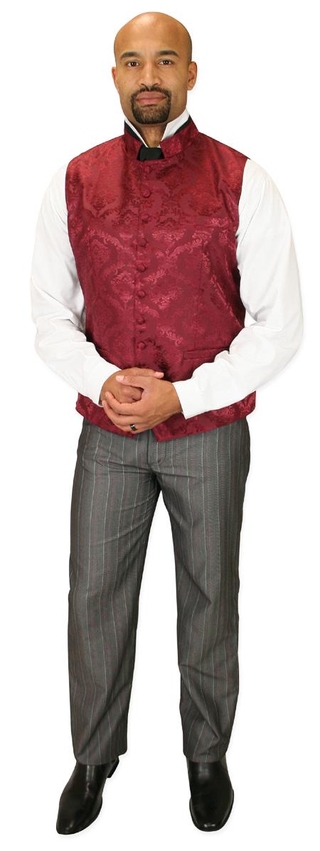 Steampunk Mens Gray Stripe Dress Pants   Gothic   Pirate   LARP   Cosplay   Retro   Vampire    Rothwell Trousers