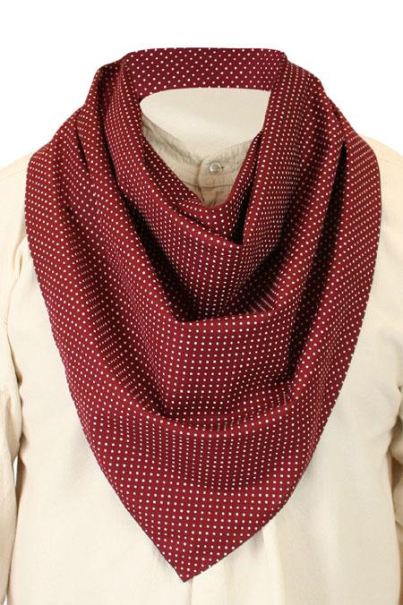 Cotton Neckerchief - Burgundy Dot