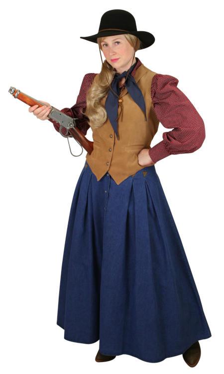 Victorian Ladies Blue Solid Work Skirt | Dickens | Downton Abbey | Edwardian || Willa Skirt - Denim